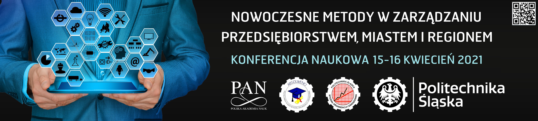 Baner konferencji: Nowoczesne Metody w Zarządzaniu Przedsiębiorstwem, Miastem i Regionem